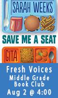 Fresh Voices Middle Grade Bookclub, August 2 at 4:00