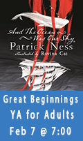 Great Beginnings, A YA Book Club for Adults, February 7th at 7:00