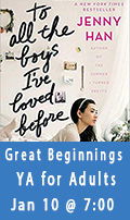 Great Beginnings, A YA Book Club for Adults, January 10th at 7:00