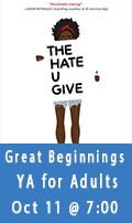 Great Beginnings, A YA Book Club for Adults, October 11th at 7:00