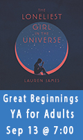 Great Beginnings, A YA Book Club for Adults, September 13 at 7:00