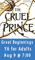 Great Beginnings, A YA Book Club for Adults, August 9 at 7:00