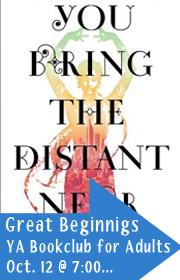Great Beginnings, A YA Book Club for Adults, October 12 at 7:00