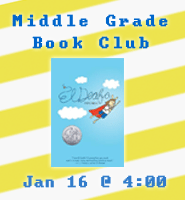 Mad About Books? Middle Grade Book Club January 16. More info...