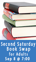 Second Saturday Book Swap, September 8 at 7:00