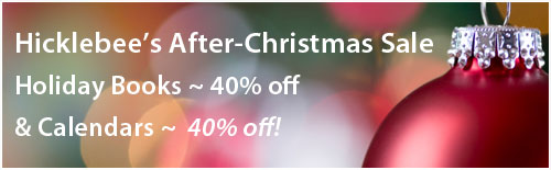 After Christmas Sale: Christmas books = 40% off, calendars = 20% off.