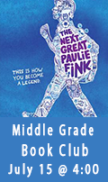 Middle Grade Book Club, July 15 @ 4:00