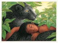 Mowgli and Bagheera by Nicola Bayley